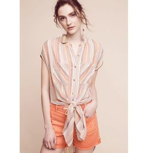 New Anthropologie Merida Tunic Top Stripe Small